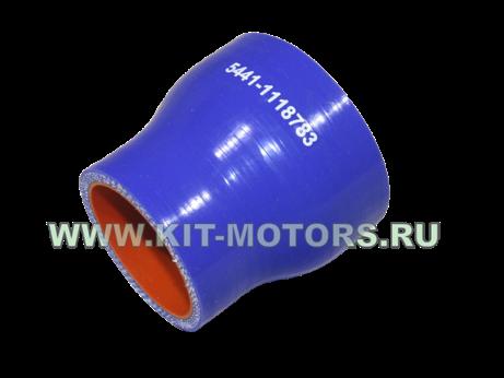 Силиконовый патрубок интеркулера 5441-1118783 для ГАЗ-3309 и ГАЗ-5441 с двигателем ММЗ-245